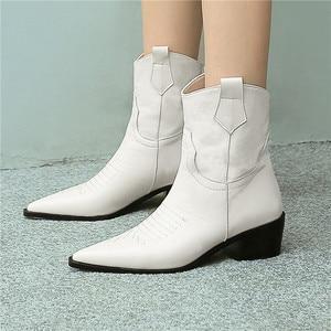 Image 5 - FEDONAS แฟชั่นชี้ Toe รองเท้าส้นสูงผู้หญิงรองเท้า Slip บนรองเท้าตะวันตกของแท้รองเท้าหนังสั้นรองเท้า Party รองเท้าผู้หญิง