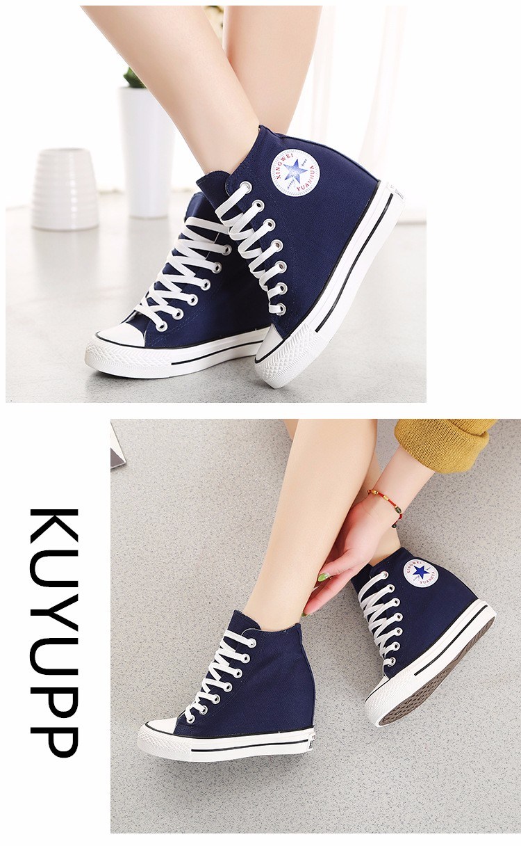 KUYUPP High Top Canvas Women Shoes Espadrilles Spring Autumn Womens Wedges Shoes Lace Up Casual Shoes For Female Sapatilha YD120 (12)