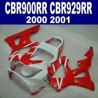 Белый красный Обтекатели для Honda CBR900RR 929RR 2000 2001 CBR929RR 00 01 обтекателя Kit (EMS Бесплатная) CN03