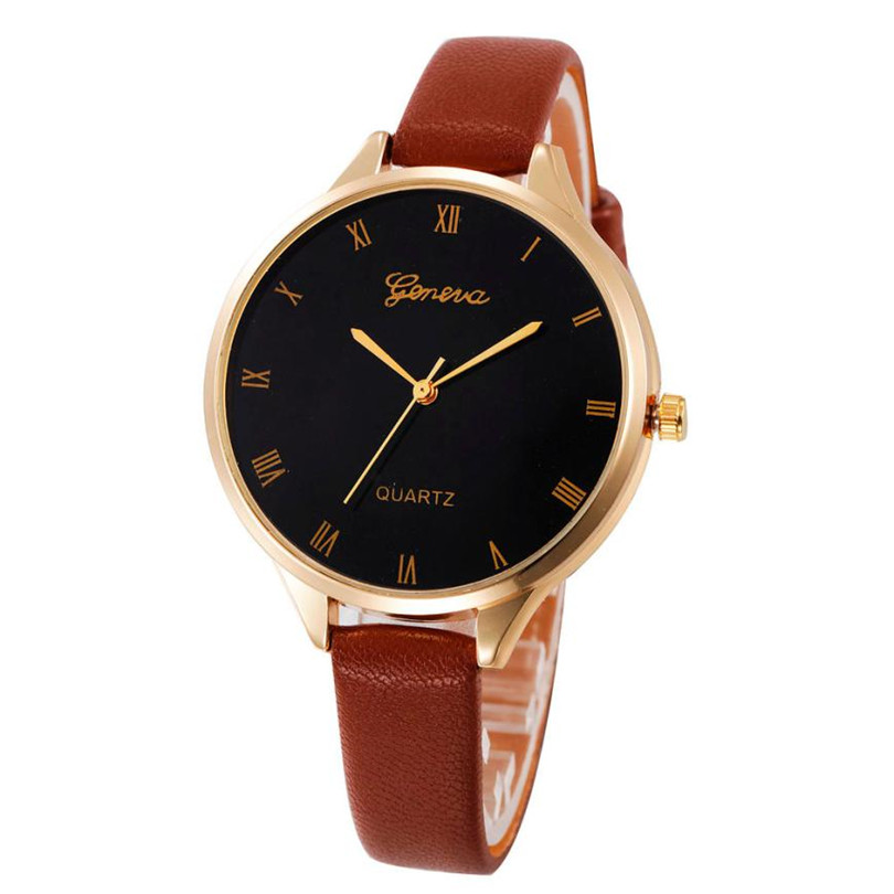Fashion Women s Watch Casual Checkers Faux Leather Quartz Analog Wrist Watch Sport montre femme dropshopping