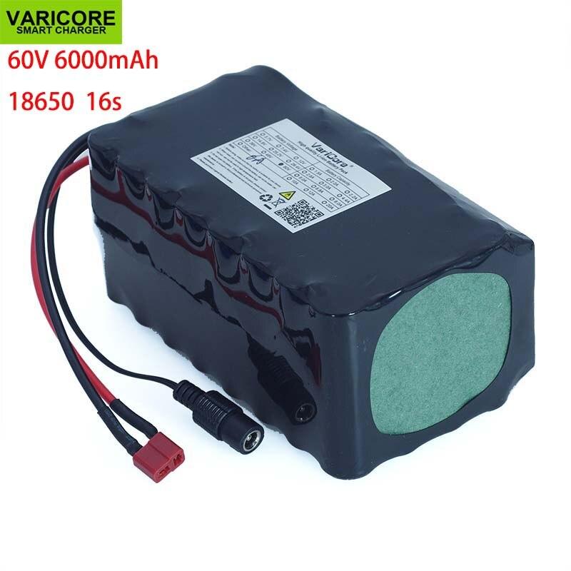 Аккумулятор VariCore 16S2P 60 в 6Ah 18650 Li-ion, 67,2 в, 6000 мАч, для загрузки, Электрический скутер Ebike с 20A BMS 1000 Вт