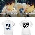 BTS Bangtan Meninos verão JUNG KOOK batida Rua homens e mulheres no mesmo parágrafo Mickey T-shirt dos amantes de roupas
