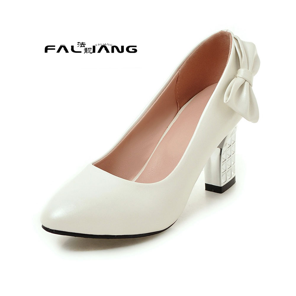 Big Size 11 12 Butterfly-knot Casua Pointed Toe women's shoes high heels pumps woman for women