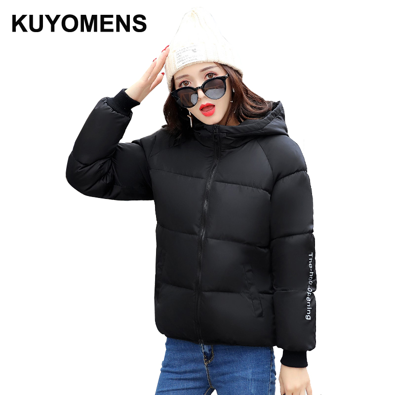 KUYOMENS 2017 Women Winter Jacket Coat  Cotton Hooded Thick Warm Loose Women Basic Coats Bomber Jacket Female Autumn kuyomens 2017 women winter jacket coat cotton hooded thick warm loose women basic coats bomber jacket female autumn women coat