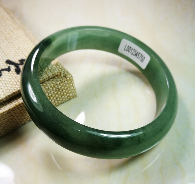 VERY FINE RARE NATURAL DARK GREEN JADEITE stone BRACELET BANGLE very fine rare natural green white jadeite stone bracelet bangle