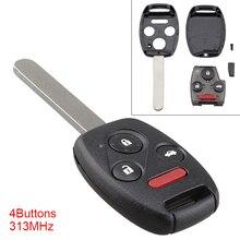 314MHz 4 Buttons Car key replacement  Keyless Uncut Flip Remote Key Fob for Honda Pilot 2009-2015 / Honda Accord 2008-2014 все цены