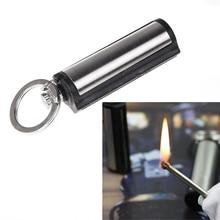 Metal match stone lighter survive camp Fire Cigar firesteel gas oil outdoor travel starter tool hike Cigarette