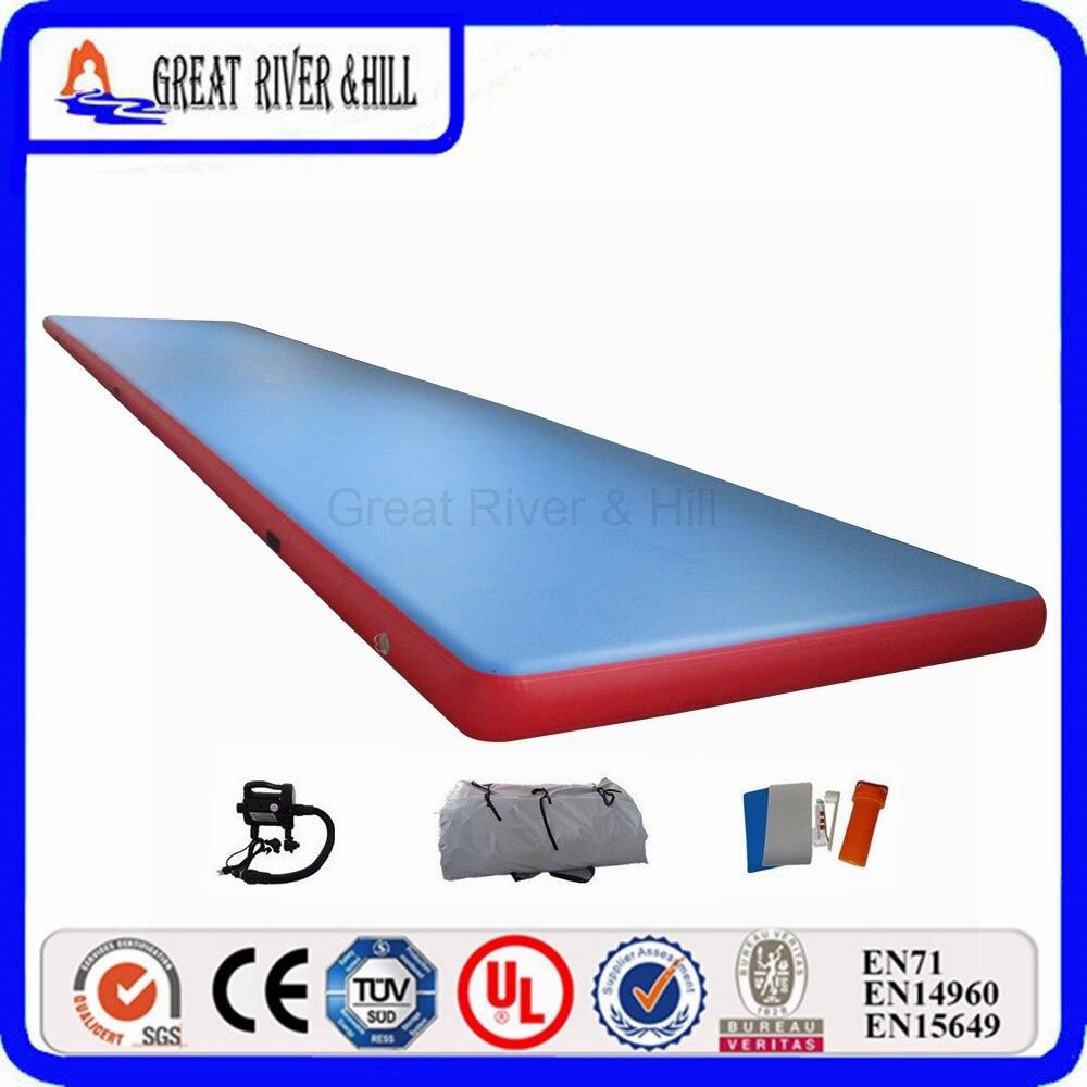 Grand tapis de gymnastique gonflable de colline de rivière pour des Sports de culbuteur avec le prix concurrentiel 5 m x 2 m x 0.2 m à vendre