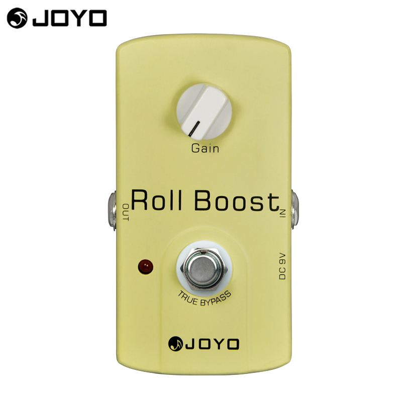 JOYO electric guitar effect pedal JF-38 Roll Boost True bypass design 35dB boost free shipping joyo 9v dc roll boost guitar effect pedal jf38
