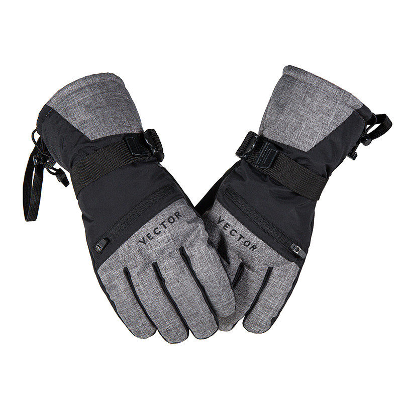 High quality 3M quality warm Mens golves 30 Degree Waterproof Fleece Skiing Glove Warmer Anti shock Winter