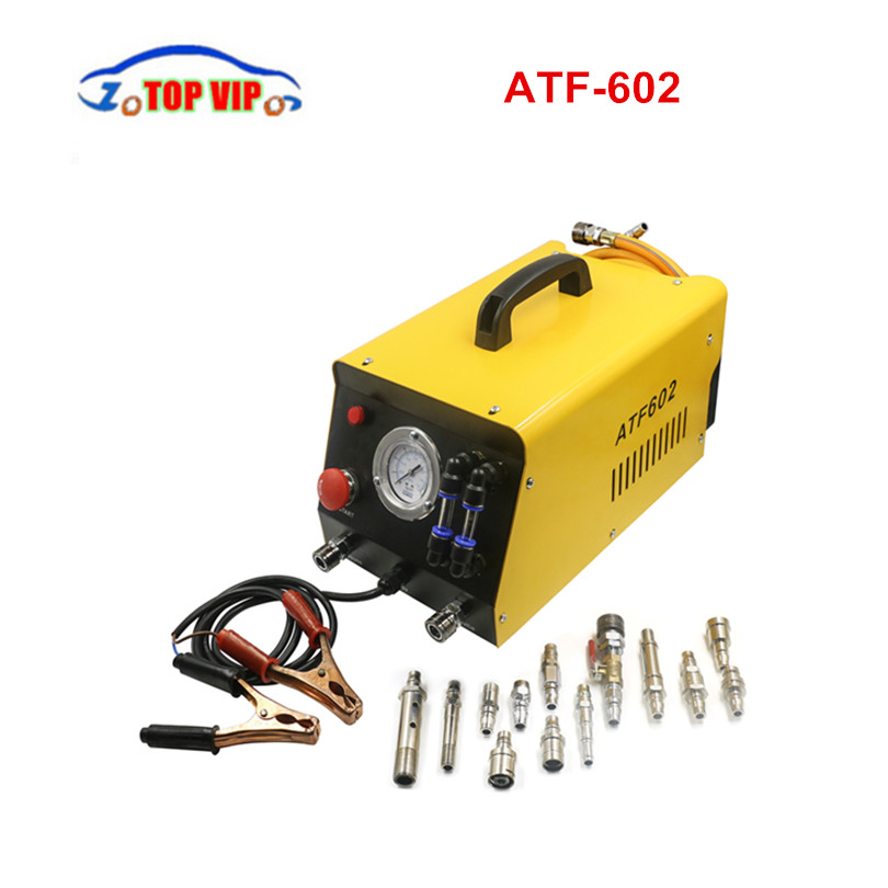2018 Newest AUTOOL ATF602 Car Automatic Transmission Fluid Exchanger 12V Auto Gearbox Oil Exchange Cleaning Machine