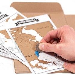 Популярные путешествии Записные книжки + скретч Географические карты путешествий журнала туристический журнал с 8 мини-мир Карты