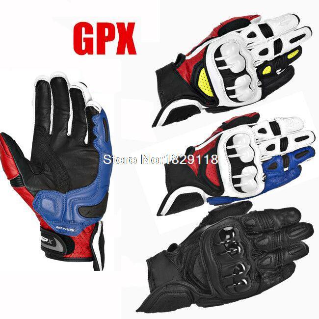 2015 <font><b>NEW</b></font> <font><b>Top</b></font> <font><b>GPX</b></font> <font><b>Motorcycle</b></font> <font><b>Racing</b></font> <font><b>Gloves</b></font> <font><b>Real</b></font> Leather Size Blue Red Black Motorbike Moto Guantes Cool Rider Luvas