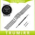 22mm correa de acero inoxidable con butterfly buckle para vector luna meridiano smart watch band correa de liberación rápida pulsera del acoplamiento