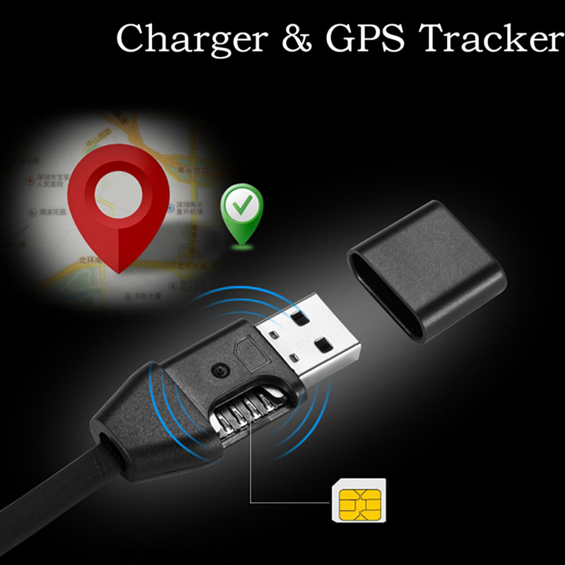 Vehemo Charging Car GPRS Tracker SMS GPS Locator Positioning Micro USB Cable for Anti Theft System Vehicle Auto for Motorcycle