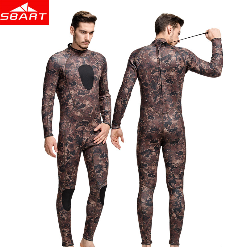 SBART Spearfishing Wetsuits 3MM Neoprene Surfing Suit Wetsuit Camo Swimming Fishing Wetsuits Camouflage Diving Wet Suit Swimming sbart upf50 806 xuancai