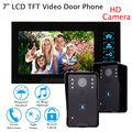 """Frete grátis! Telefone Da Porta 7 """"Wired Vídeo Doorbell Visual Monitor HD 2 Câmera de Segurança Para Casa"""