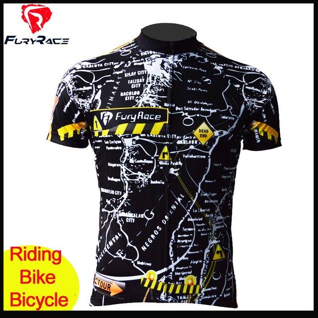 65a6414e7 Fury Wyścig Mężczyźni Wysokiej Jakości Koszulki Konna Jazda Na Rowerze MTB  Bike Jersey Pielucha Rowerów MTB