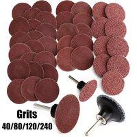 40 1 Mix 40 80 120 240 Grits 2 Roloc Type R Sanding Abrasive Disc Mandrel