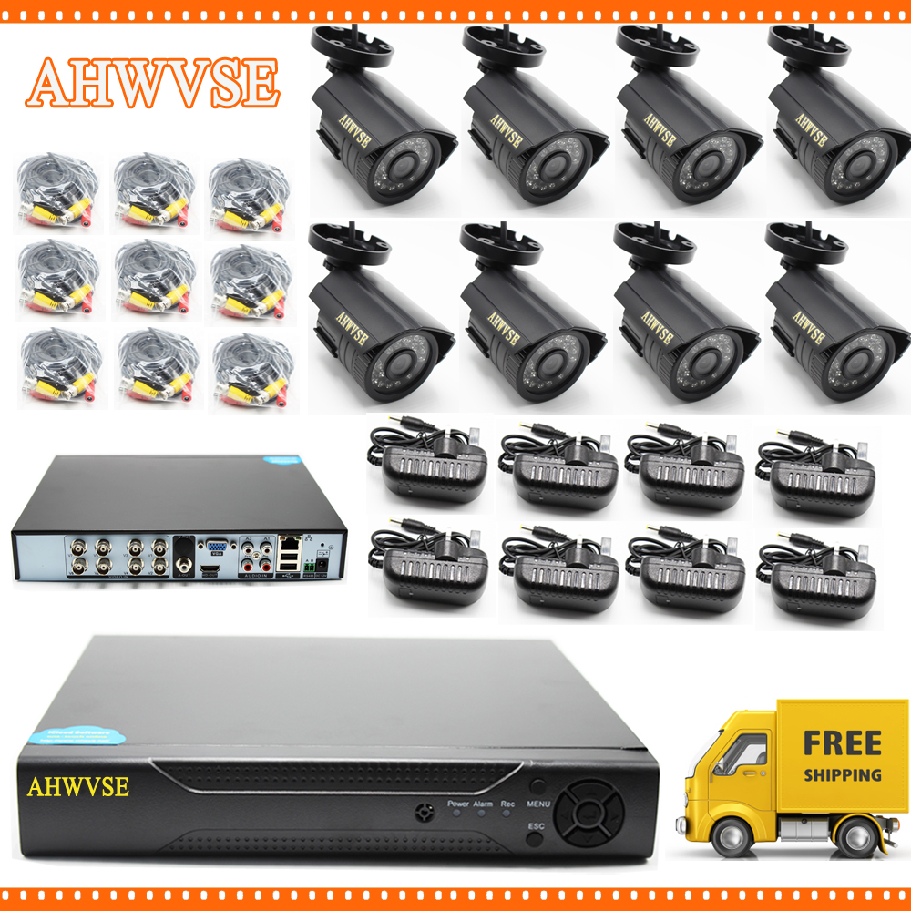 5MP AHD Camera with 8CH AHD DVR 5MP Video Surveillance Security System Free Shipping
