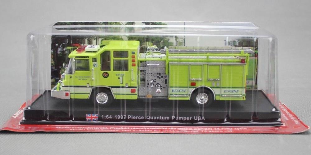 DIECAST METAL 1:64 FIRE TRUCK MODEL USA 1997 PIERCE QUANTUM PUMPER