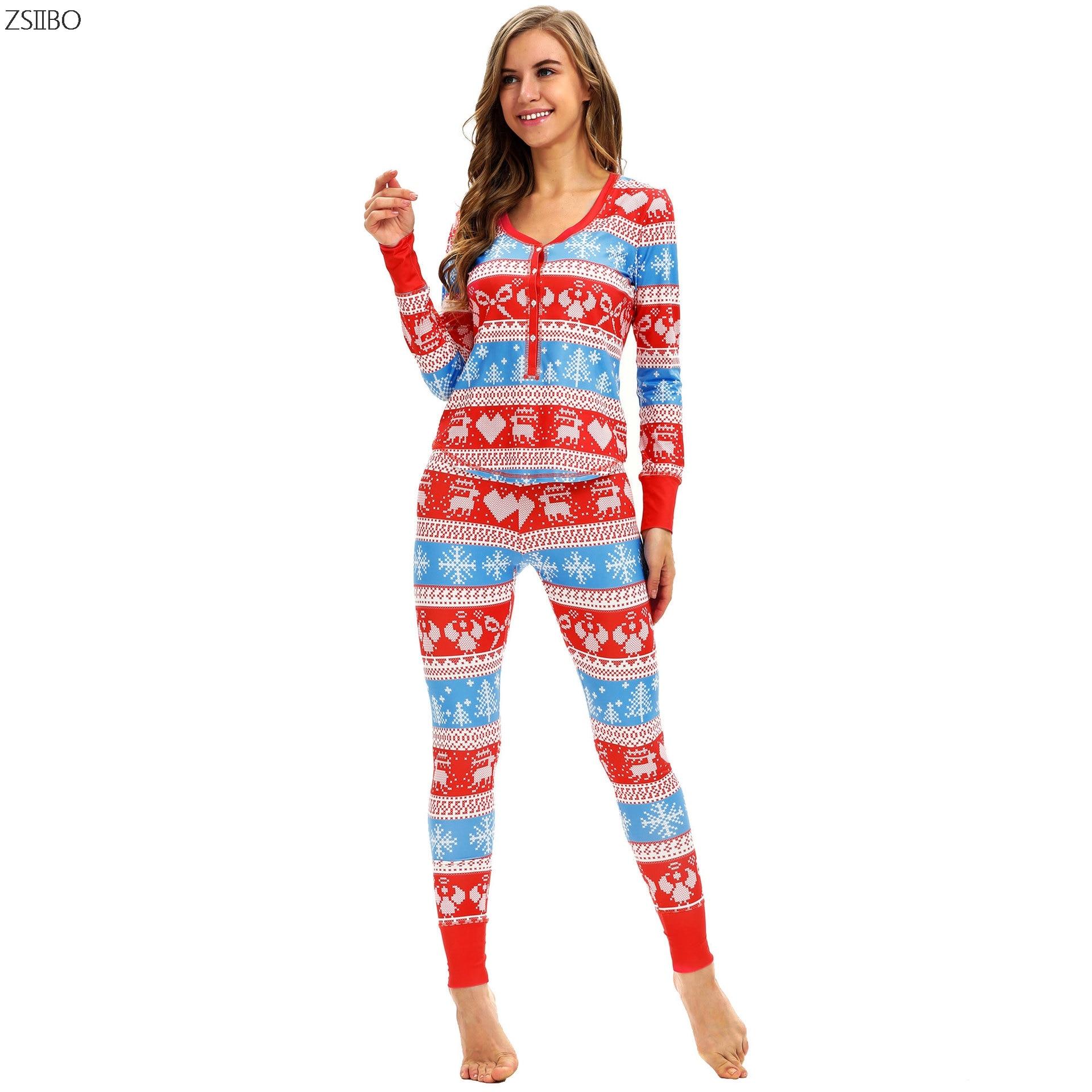 GüNstiger Verkauf Winter Pyjamas Weihnachten Elch 3d Digital Print Dünne Beiläufige Nachtwäsche Langarm Zwei-stück Set Schlafanzug Frauen Plus Größe Sd07
