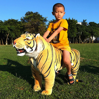 realistic animal tiger plush toy giant simulation animals doll for children riding toys teaching photography props decoration