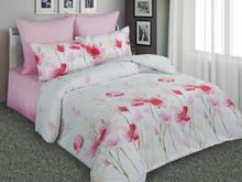 Комплект постельного белья двуспальный-евро Amore Mio, белый, с цветами