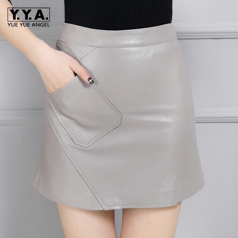 Recto 2 Para Sexy Alta Venta Cintura Clásico 2019 Cuero Mini Nueva Mujer Caliente Saia 1 Abrigo Lápiz Femme De Casual Llegada Jupe Faldas Genuino qOgPYPU