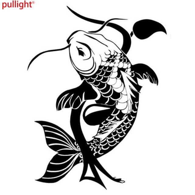 Peces Koi Japonés Tradicional Animal Etiqueta Engomada Del ...