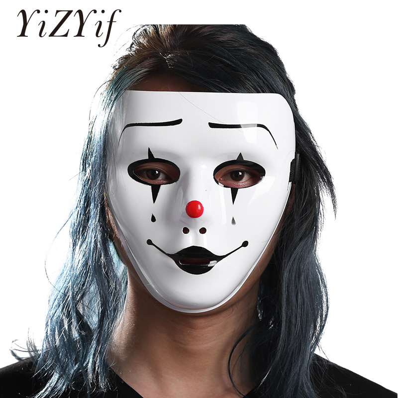 YiZYiF Full Face Mask Cosplay Horror Hockey Mask Plastic Craft Decorating Party Favors for Halloween Costume Masquerade Party