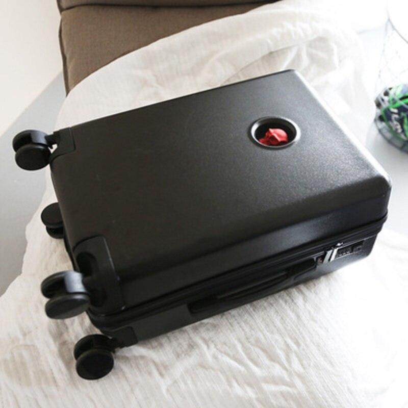 Opowieść podróży ciemny czaszka będzie osobowość bagażu 20 cali na pokład PC Rolling przechowalnia Spinner marki walizka podróżna w Walizka na kółkach od Bagaże i torby na  Grupa 1