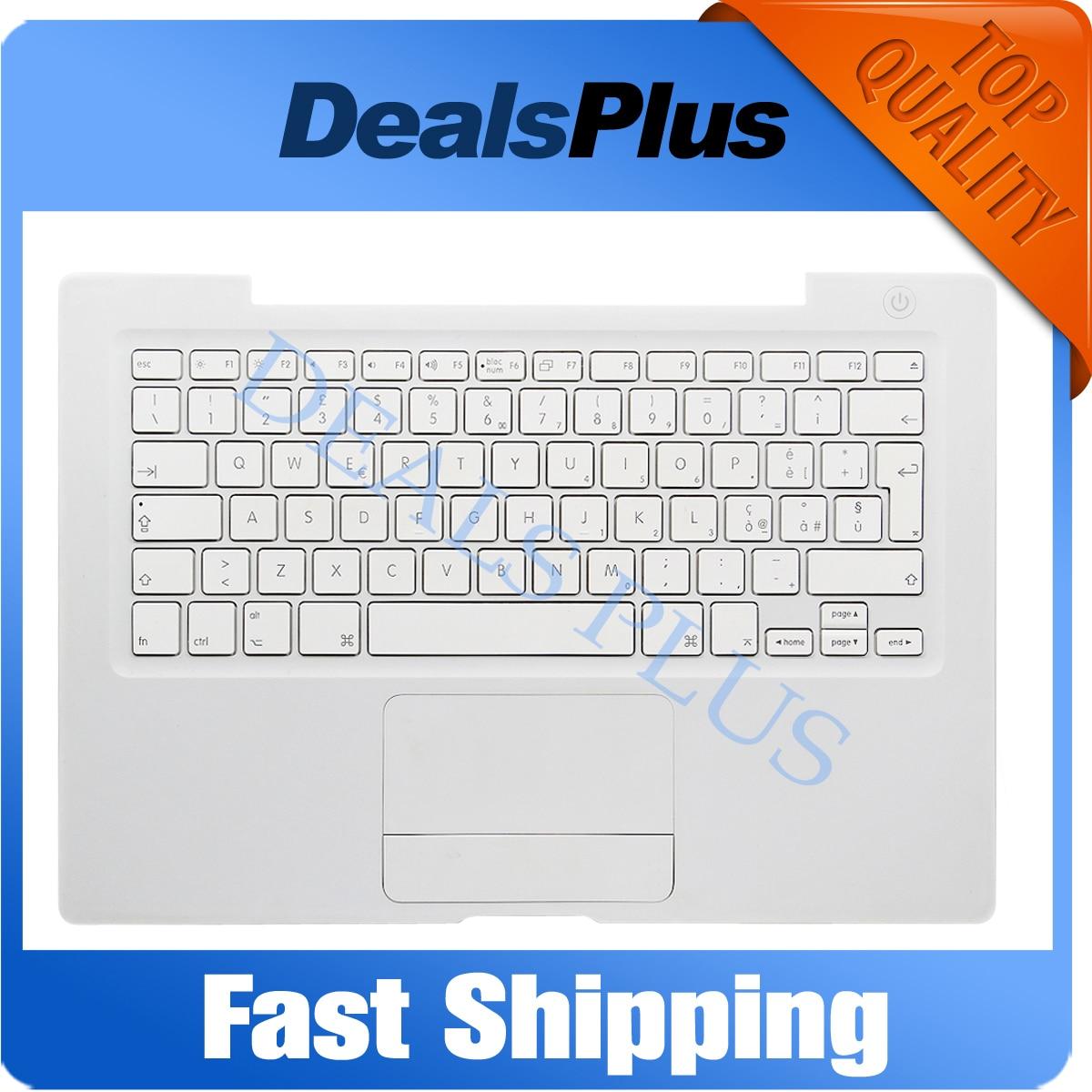 90% nouveau A1181 A1185 IT italie Palmrest clavier avec pavé tactile Trackpad (câble jaune) pour MACBOOK 13 ''A1181 A1185 blanc