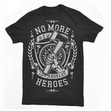 New T Shirts Funny Tops Tee Unisex TopsNO MORE HEROES fire fighte new york la ny mashup dtg mens t shirt tees