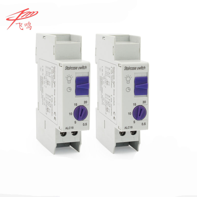 ALC18 Timer Switch Din Rail Staircase Lighting Timer Relay 220VAC 16A light electric device equipment controller 2pcs lot brand new sul 181d analog 24 hours mechanical din rail timer switch 15minutes