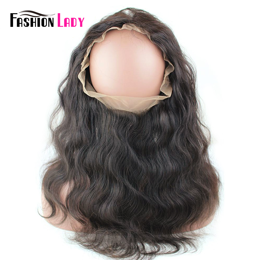 Fashion Lady Pre-Colored Bleached Knot Brazilian Remy Lace Frontal Closure Pre Plucked Nautal Hair Line Frontal With Baby Hair