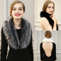 Autumn Women's Faux Fur Christmas Gifts Cape Scarf Winter Warm Fur Collar nice Accessories Shawl Winter Gifts Faux Fox Fur