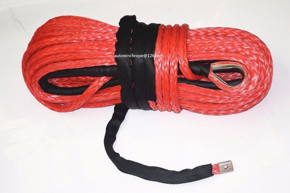 Rouge 14mm * 30 m Corde Synthétique, ATV Treuil Câble pour Treuil Électrique, Plasma Corde, UHMWPE Corde