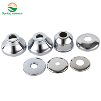 SPRING SUMMER DN8 DN10 aperture10mm 17mm Stainless steel cover chrome decorative wall hole ZZG02|Faucet Base Plates|   -