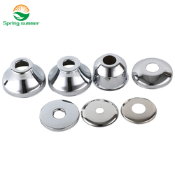 SPRING SUMMER DN8 DN10 aperture10mm-17mm Stainless steel cover chrome decorative wall hole ZZG02