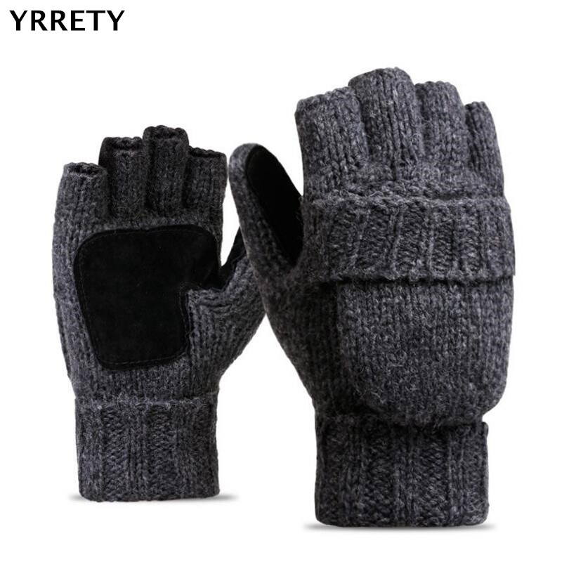 YRRETY Unisex Plus Thick Male Fingerless Gloves