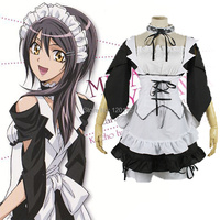 Maid Sama 8 Pieces Set Lace Neckline Kaichou Wa Maid Sama Misaki Ayuzawa Dress Cosplay Costume