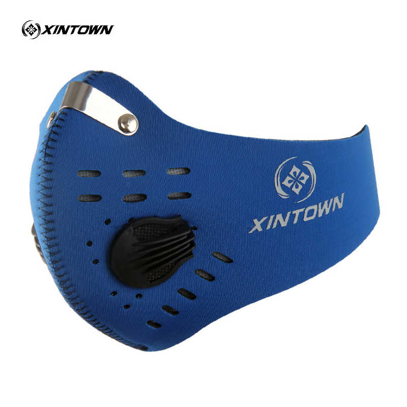 Xintown Mannen Vrouwen Air Filter Sport Half Gezichtsmasker Training Fiets Bike Running Jogging Facemask Anti Fog Vervuiling Masker