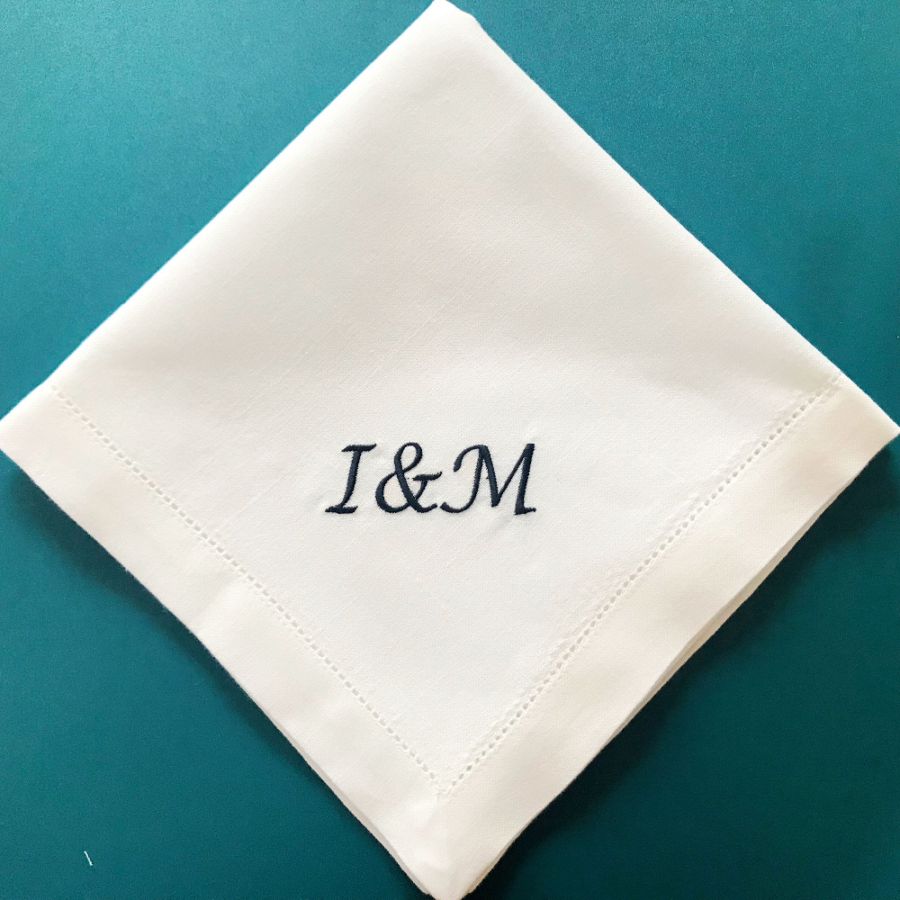 aliexpress com   buy personalized napkin monogrammed dinner wedding washable embroidered napkins