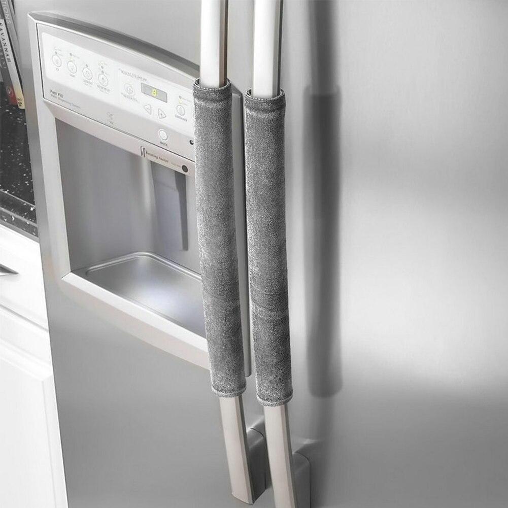 Kitchen Appliance Decor Oven Protector Refrigerator Door Handle Cover Gloves Dishwasher Antiskid Pleuche
