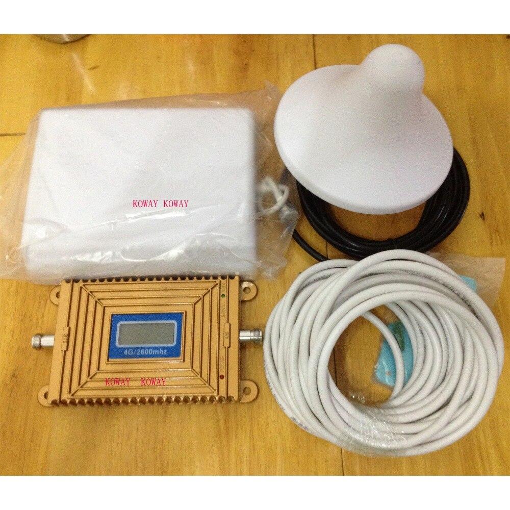 2016 новый LTE 4 Г сигнал Повторителя ЖК 4 Г 2600 МГц Сигнала Booster LTE 4 Г Усилитель Сигнала Мобильного Телефона Ретранслятор Усиления 70dBi антенна