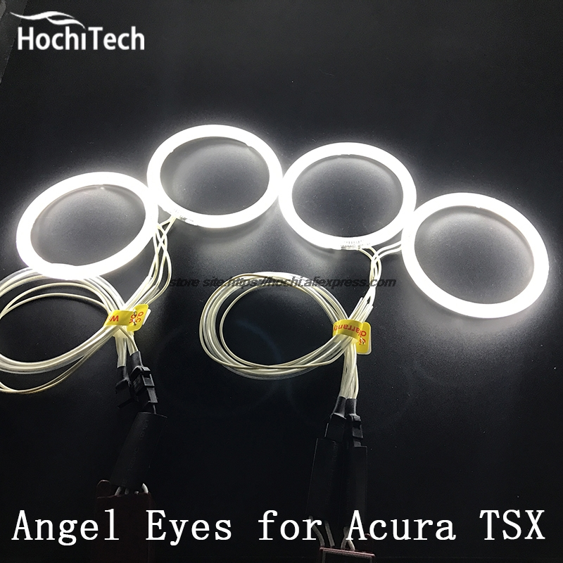 HochiTech WHITE 6000K CCFL Headlight Halo Angel Demon Eyes Kit angel eyes light for Acura TSX 2009 2010 2011 2012 hochitech white 6000k ccfl headlight halo angel demon eyes kit angel eyes light for mustang 2015 2016 2017