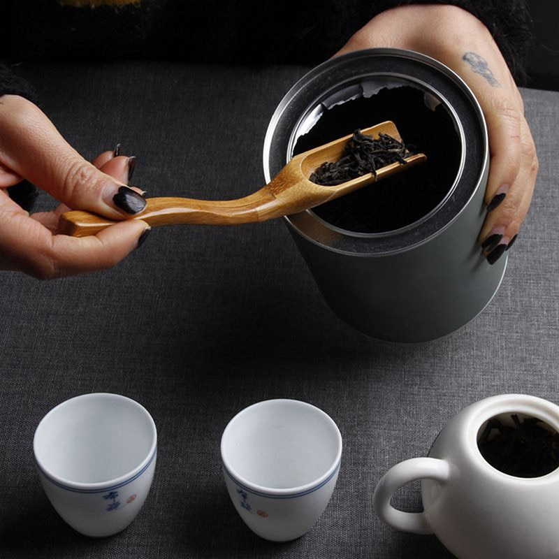 Для китайского чая кунг-фу ложки медная чайная ложка чайные листья выбор держатель для китайского чая кунг-фу инструменты аксессуары - Цвет: 18X3CM