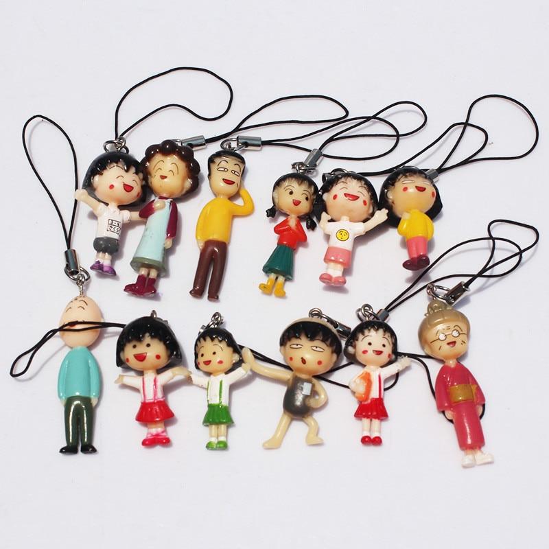 Made in Japan Chibi Maruko Chan Momoko Sakura Acrylic Plastic Key Chain