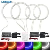 LEEWA 2X100MM 2X131MM LED Headlights Car CCFL Halo Rings Angel Eyes Light for BMW E87 DRL White/Blue/Green/Yellow/Red #CA3106
